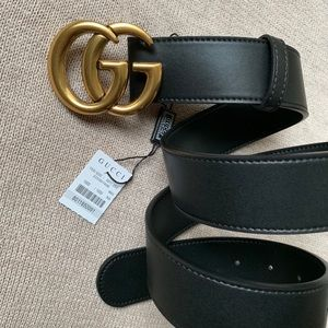 `New Gucci Belt Authėntic Double G Marmot GG
